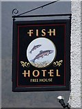 NY1716 : Fish Hotel pub sign by Mike White