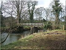 NY6121 : Footbridge at Kemplee by David Brown