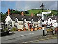 SJ1532 : The centre of Llanarmon Dyffryn Ceiriog by Richard Green