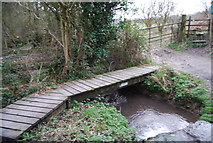 SU7431 : Footbridge for the Hangers Way by N Chadwick