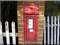 TM4266 : Four Crossways Victorian Postbox by Geographer