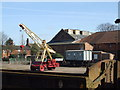 TF9913 : Horace the crane and Dereham goods yard by Ashley Dace
