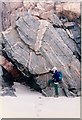 NB0332 : Gneiss at Uig Sands, Lewis by John Palmer