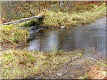 NH5533 : Ford and a (very slippery) footbridge across Allt Coire Shalachaidh by sylvia duckworth