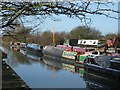 SP8814 : Canal Barges on the Aylesbury Arm at Bates Boatyard by Chris Reynolds