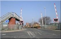 SE5023 : Level Crossing - Womersley Road by Betty Longbottom