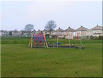 SE0729 : Play Area in Natty Lane Playing Fields, Illingworth, Halifax by Michael Steele