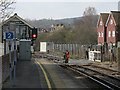 TQ6952 : Level crossing gates, Bow Hill, Wateringbury by Stephen Craven