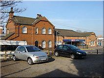 TQ5686 : Upminster station, entrance on Station Approach by Oxyman