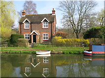 SU9947 : St Catherines Lock Cottage, River Wey Navigation by Nick Smith