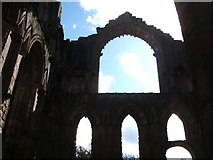 SE2768 : Windows and sky, Fountains Abbey by Peter Barr
