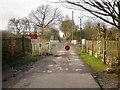 SD7212 : Level crossing on Oaks Lane by Alexander P Kapp