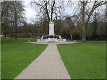 TM1644 : War memorial, Christchurch park by Oxymoron