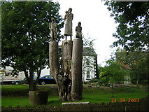 J0558 : Tree Sculpture of The Potato Famine at Tannaghmore Gardens. by Raymond McSherry