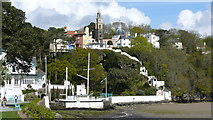 SH5837 : Portmeirion - Village From Near the Hotel by Peter Trimming