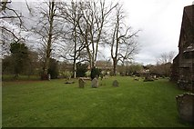 TQ4655 : St Martin's Church, Brasted, Kent - Churchyard by John Salmon