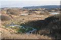 SS8576 : Duneland stream and footbridge, Merthyr Mawr Warren by eswales