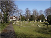SU5707 : Wickham Road Cemetery (2) by Barry Shimmon