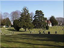 SU5707 : Wickham Road Cemetery (3) by Barry Shimmon