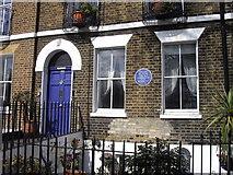 TQ3179 : Blue Plaque 100 Lambeth Road by PAUL FARMER