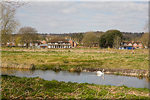 SU4828 : Looking across River Itchen at Ridding Meads by Peter Facey