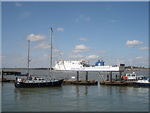 TM2532 : Danish ferry entering Harwich harbour by Oxymoron