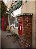 SZ1597 : Sopley: postbox № BH23 43 and phone box by Chris Downer