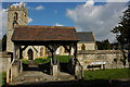 SP1452 : Lych gate, Welford on Avon Church by Philip Halling