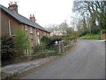 SY9897 : Victoria cottages, Sleight Lane by John Palmer