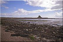 NU1341 : Beach at low tide, Holy Island, Northumberland by Christine Matthews