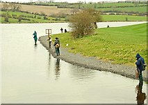 J1744 : The angling season at the Corbet Lough near Banbridge by Albert Bridge