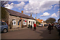 NU1241 : Holy Island Post Office and main street, Northumberland by Christine Matthews
