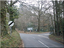 SY0284 : Road junction, near Lympstone Common by Roger Cornfoot