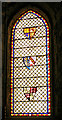 NU1241 : Stained Glass Windows, St Mary the Virgin, Holy Island by Christine Matthews