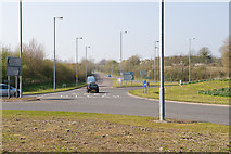 SU4726 : Roundabout at southern end of Badger Farm Road by Peter Facey