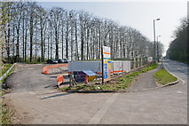 SU4726 : Depot for construction of Itchen Farm Park and Ride by Peter Facey