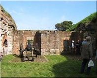 NT9953 : Inside Cumberland Bastion by Barbara Carr