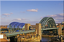 NZ2563 : Tyne Bridge and The Sage, Gateshead by Christine Matthews