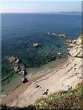 SX0652 : Beach east of Fishing Point by Derek Harper