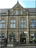 SE0724 : Central gable of Warley Road School, Halifax by Humphrey Bolton