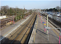 TQ5686 : Looking East from the c2c Platforms at Upminster Station by Oxyman
