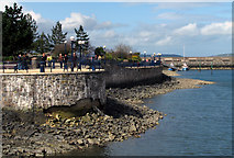 J5081 : Path and wall by Bangor Marina by Rossographer