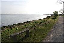TQ8068 : Bench by the Saxon Shore Way by N Chadwick