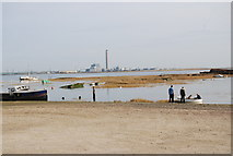 TQ8068 : Looking across Sharp's Green Bay to Kingsnorth Power Station by N Chadwick