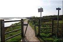 TQ8068 : Squeeze stile, Saxon Shore Way by N Chadwick