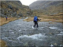 NM8994 : River crossing - upper Finiskaig River. by Nick Ray