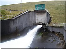 NN9104 : Upper Glendevon Reservoir Outlet by James T M Towill
