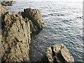 SH1834 : Rocks near Trwyn Cam by David Medcalf