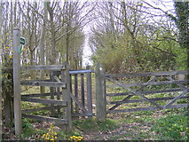 TM3761 : Beginning of the bridleway to Deadman's Lane by Adrian Cable