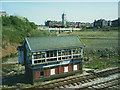 SD8010 : Bury South signal box, before restoration by Stephen Craven